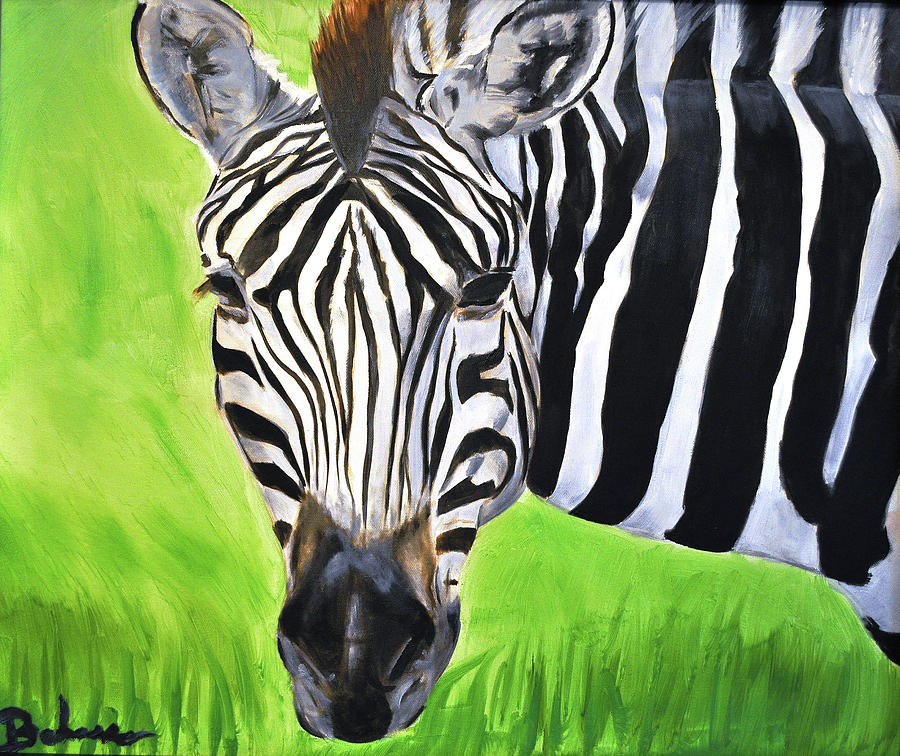 Zebra Painting - Zebra In The Wild by Ruben Barbosa