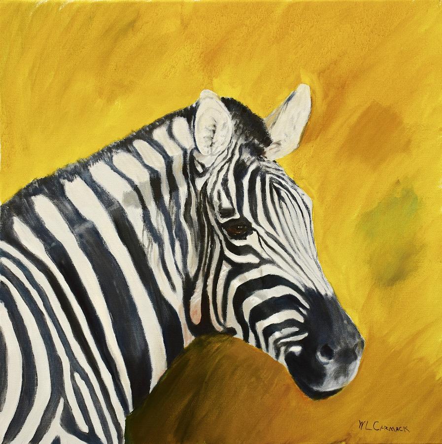 Zebra Painting by Larry Carmack