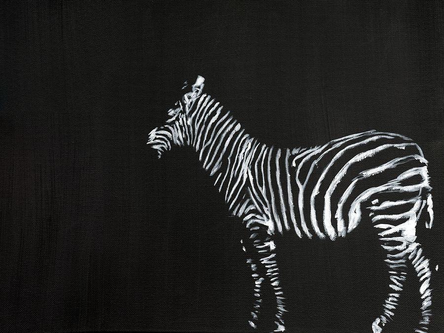 Zebra Painting - Zebra by Matthew Daigle
