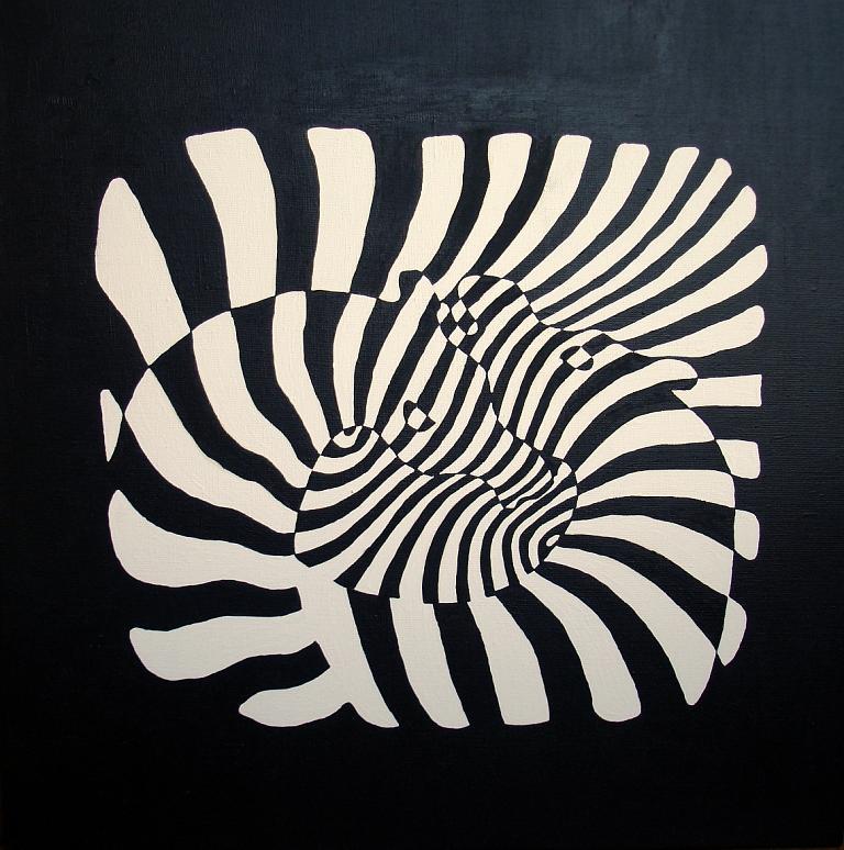 Horse Painting - Zebra by Ochenash Inna