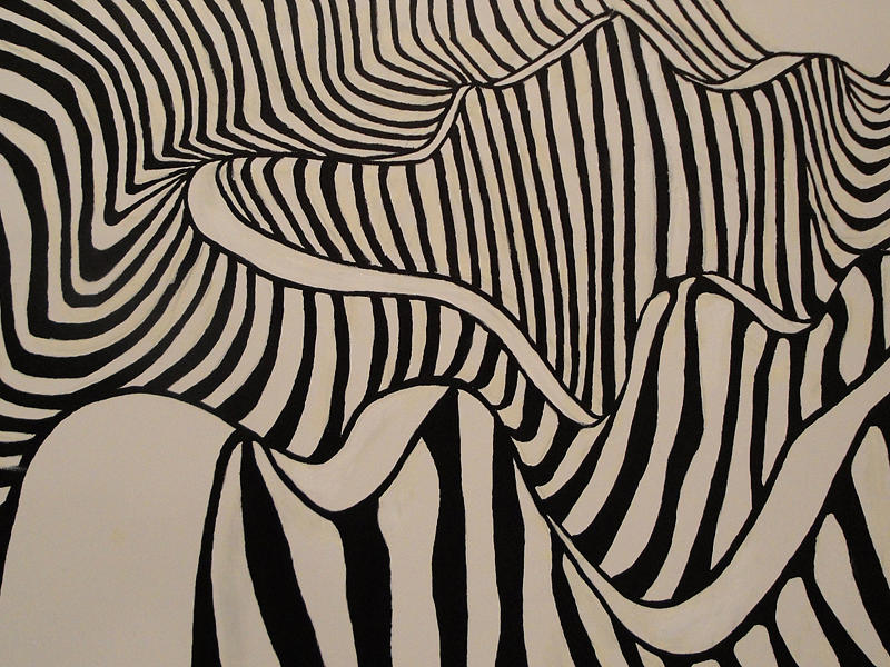 Abstact Painting - Zebra Road by Stephen Ponting