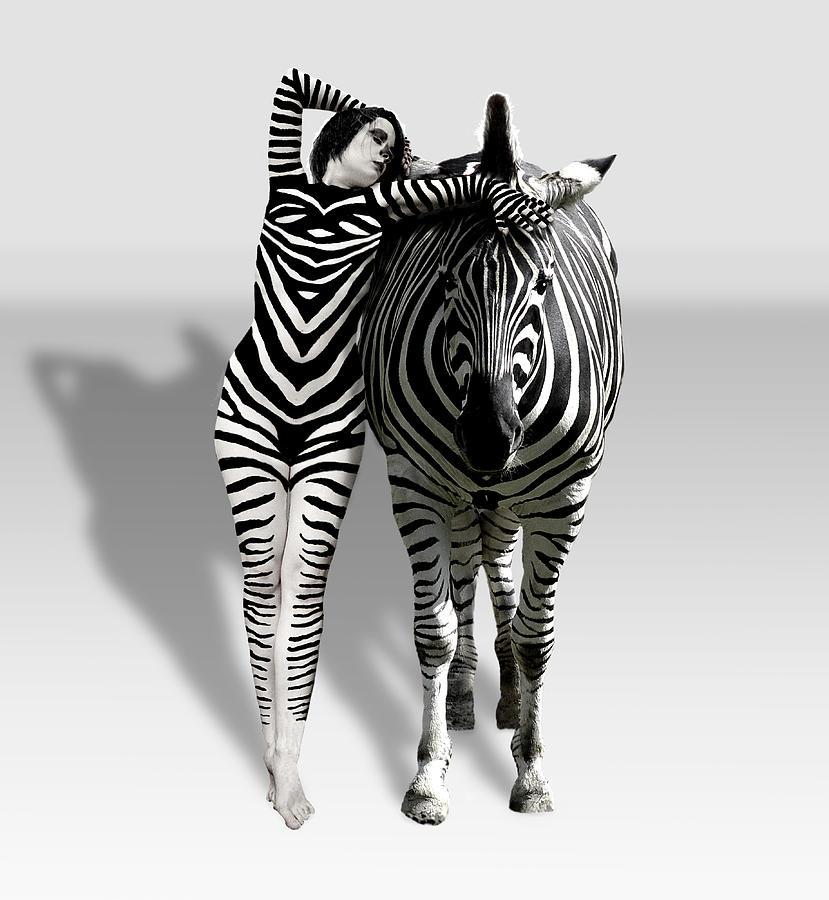 Zebra Woman Photograph by Lloyd Burchell