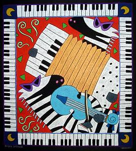 Zebra Zydeco Painting by Nancy  Coffelt