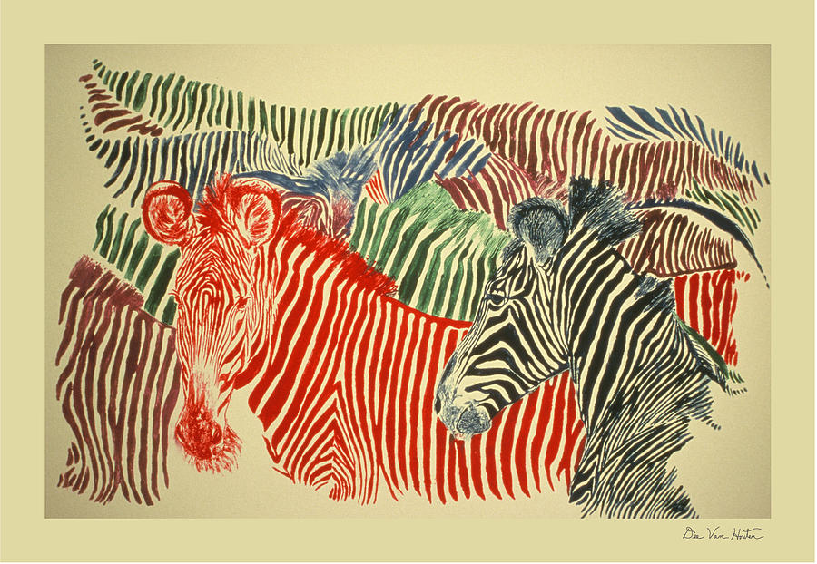 Zebras Of A Different Color by Dee Van Houten