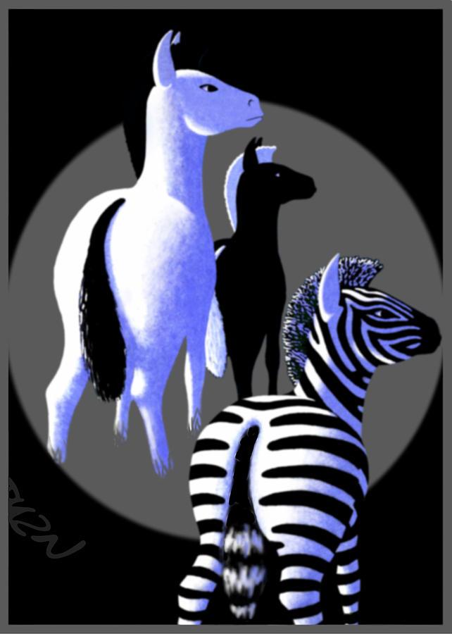 Dkzn Digital Art - Zebredee by Tom Dickson