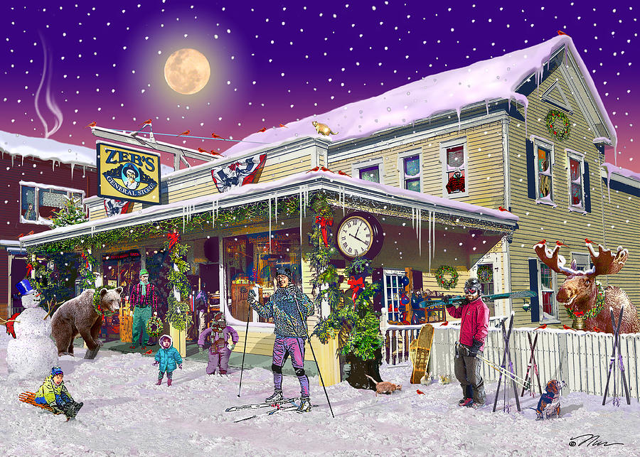 Country Digital Art - Zebs General Store In North Conway New Hampshire by Nancy Griswold