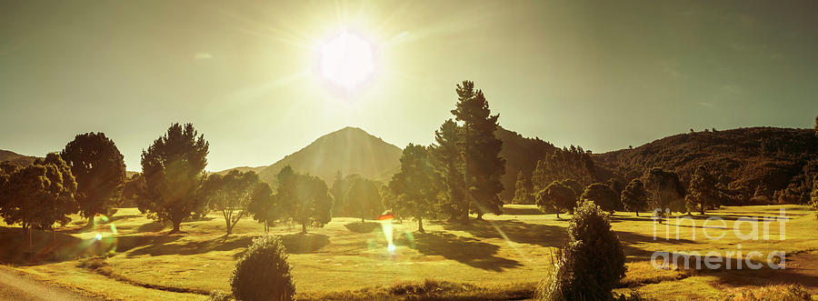Tasmania Photograph - Zeehan Golf Course by Jorgo Photography - Wall Art Gallery