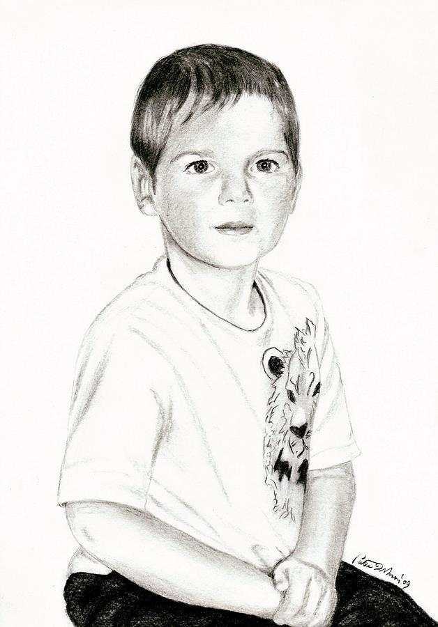 Pencil Drawing - Zeke by Peter Morris
