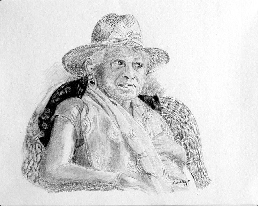 Portrait Drawing - Zelda by Quwatha Valentine
