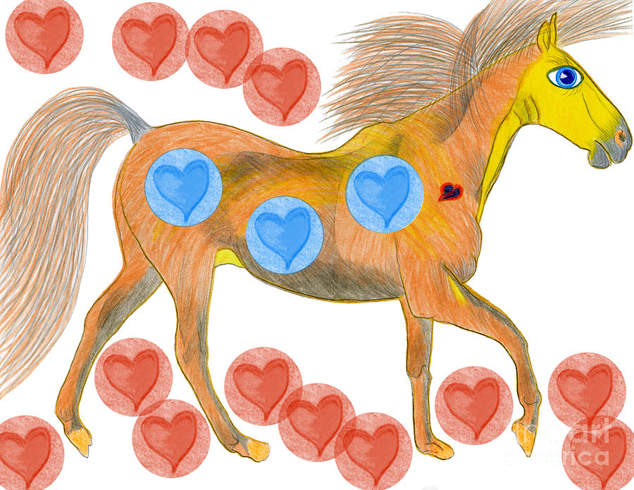Horses Painting - Zelig by Tess M J Iroldi