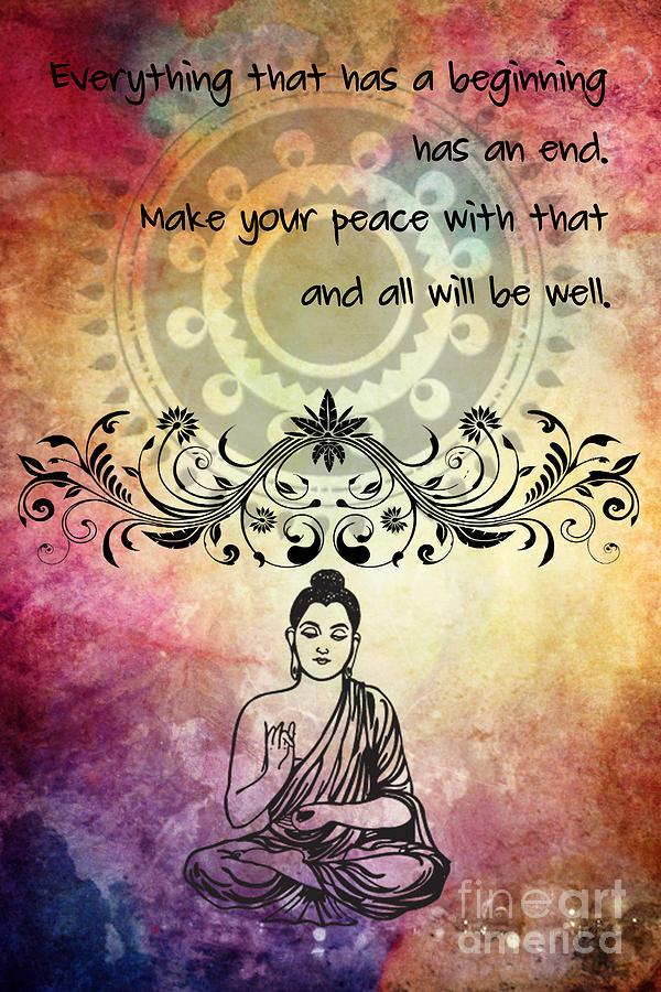 Zen Art Inspirational Buddha Quotes Digital Art By Justyna Jbjart