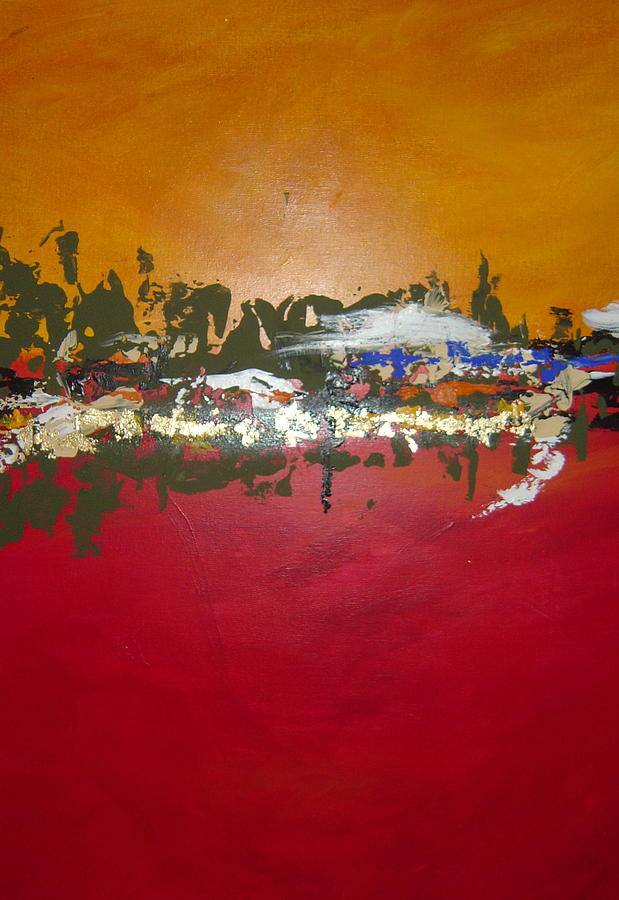 Abstract Painting - Zen by Nicole Lee