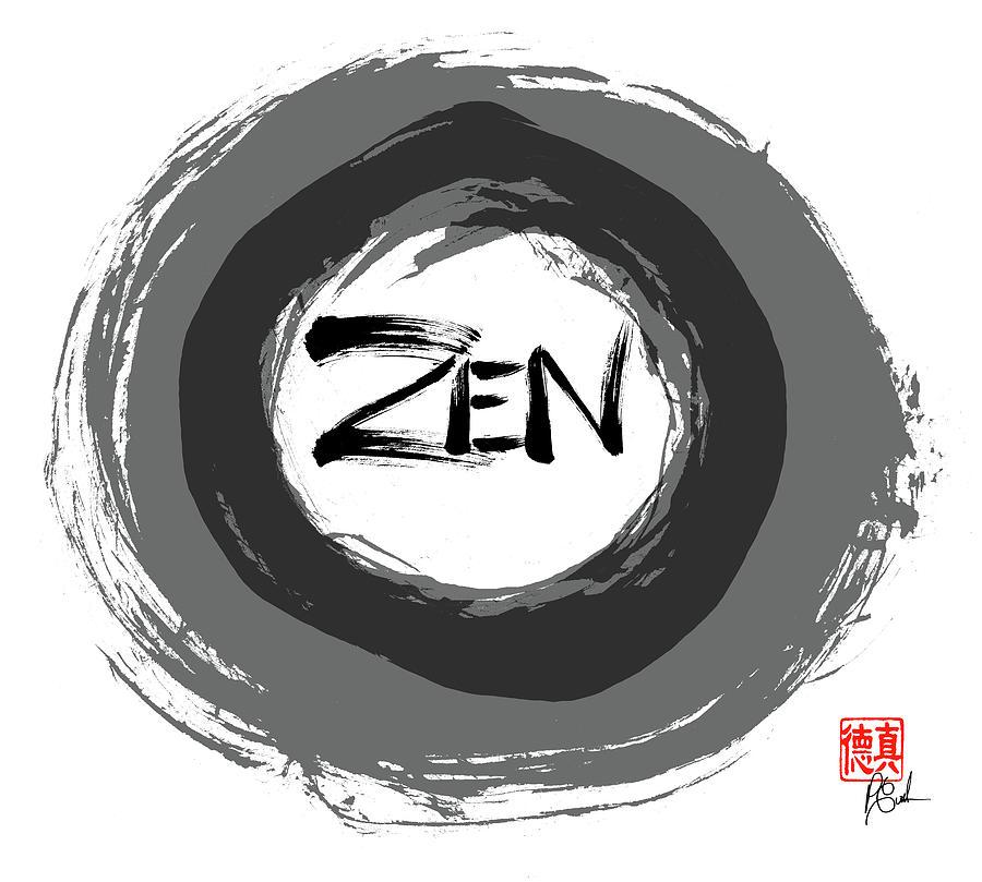 Zen Painting - Zen  by Peter Cutler