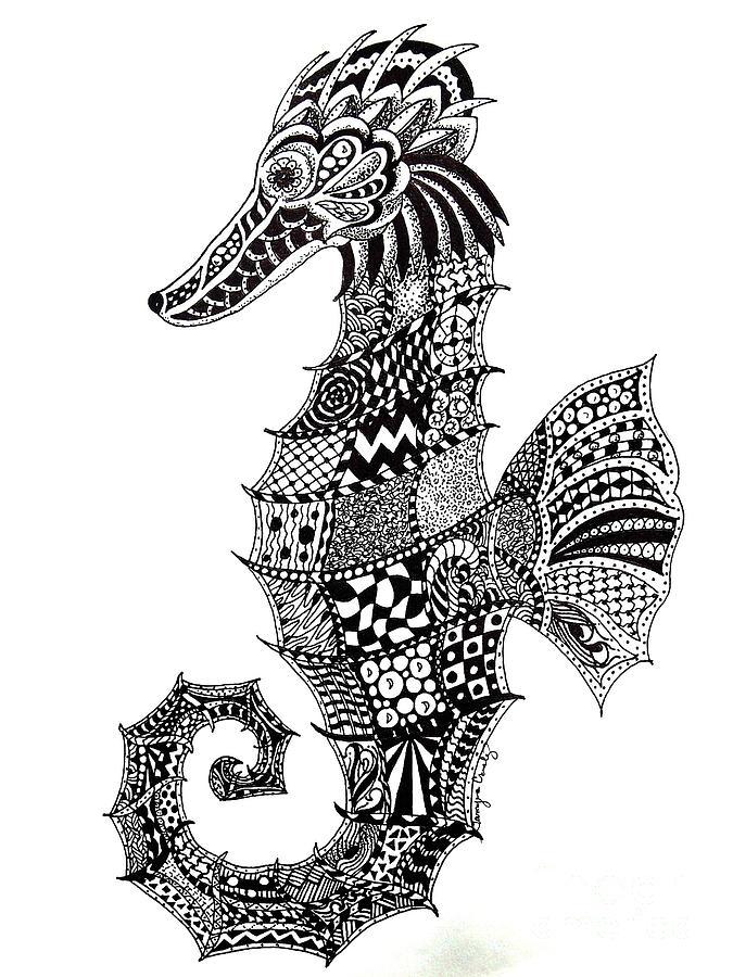 Zen Seahorse by Tamyra Crossley