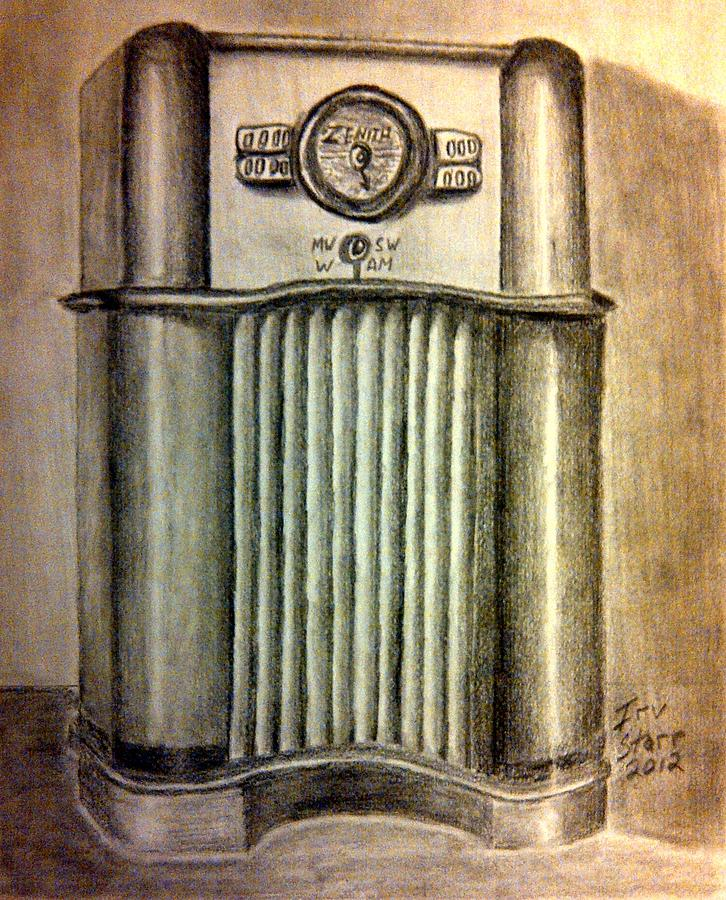 Radio Drawing - Zenith Radio by Irving Starr