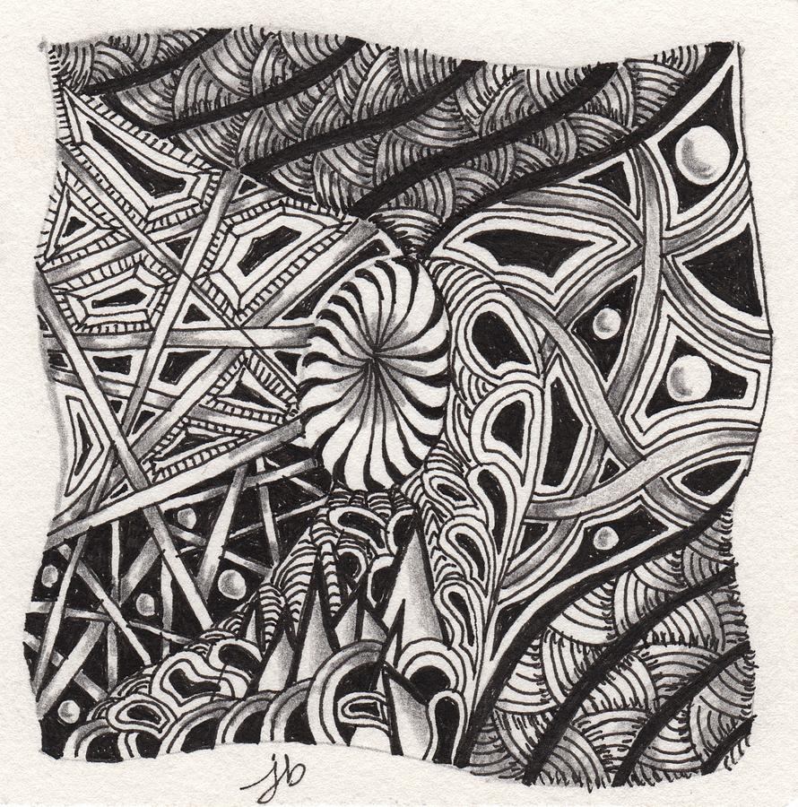 zentangle drawing zentangle abstract 1 by jan steinle