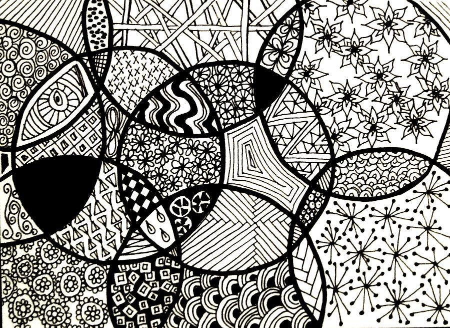 Zentangle Circles Drawing by Cara Imperato