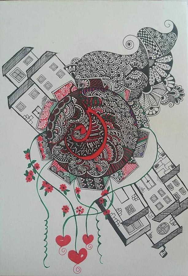 Zentangle Drawing - Zentangle by Shilpa Mehta