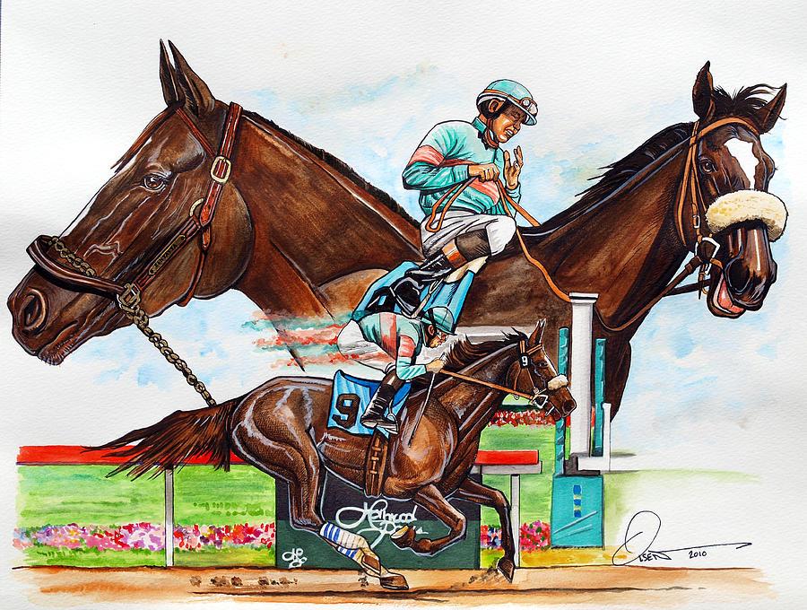 Zenyatta. Breeders' Cup Painting - Zenyatta by Dave Olsen