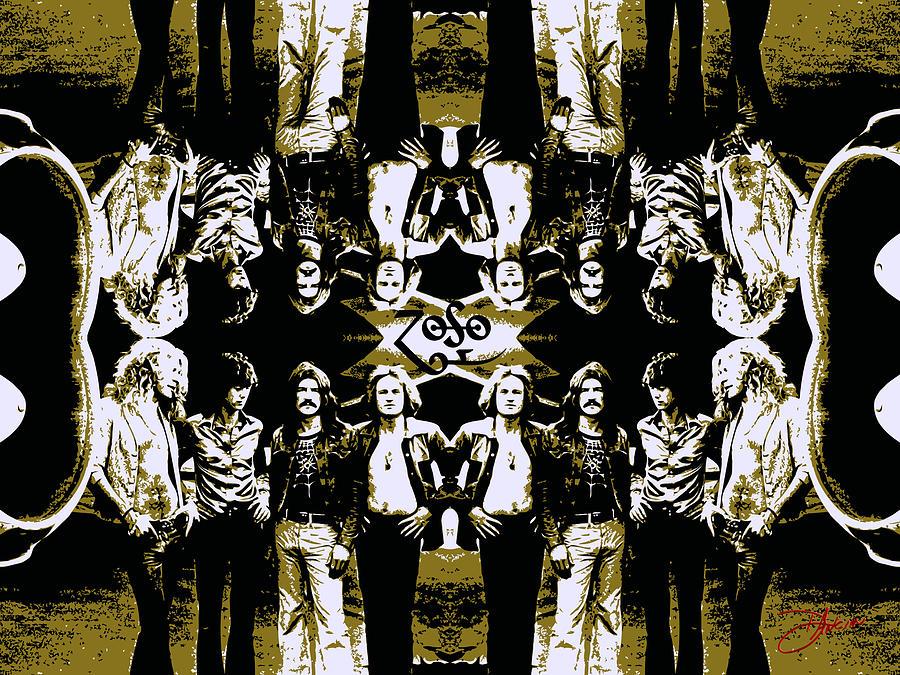 Led Zeppelin Photograph - Zeppelin Times Four by Dancin Artworks