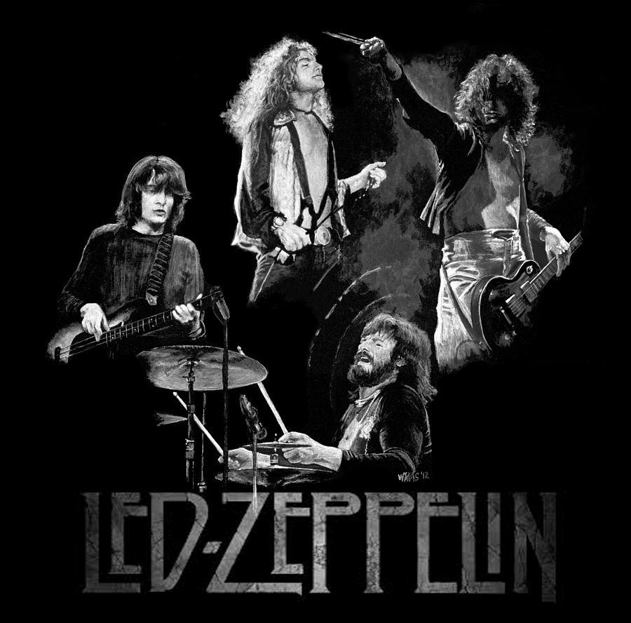 Led Zeppelin Painting - Zeppelin by William Walts