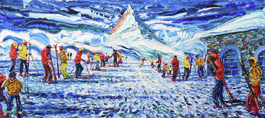 Zermatt Painting - Zermatt And The Matterhorn by Pete Caswell
