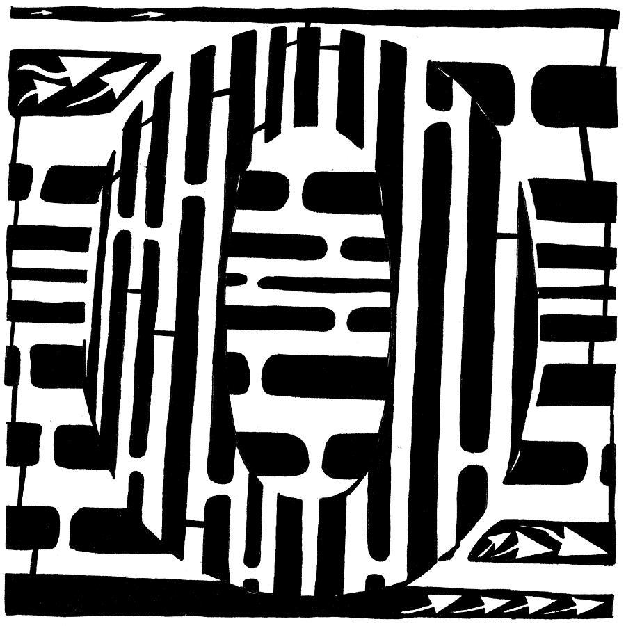Zero Drawing - Zero Maze by Yonatan Frimer Maze Artist