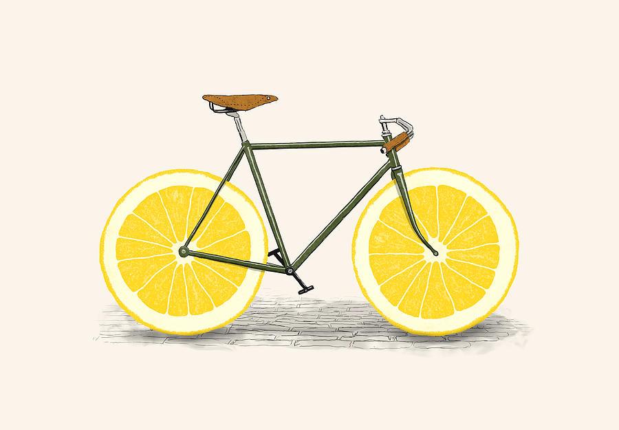 Bike Drawing - Zest by Florent Bodart