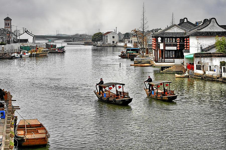 Yangtze Delta Photograph - Zhujiajiao - A Glimpse Of Ancient Yangtze Delta Life by Christine Till