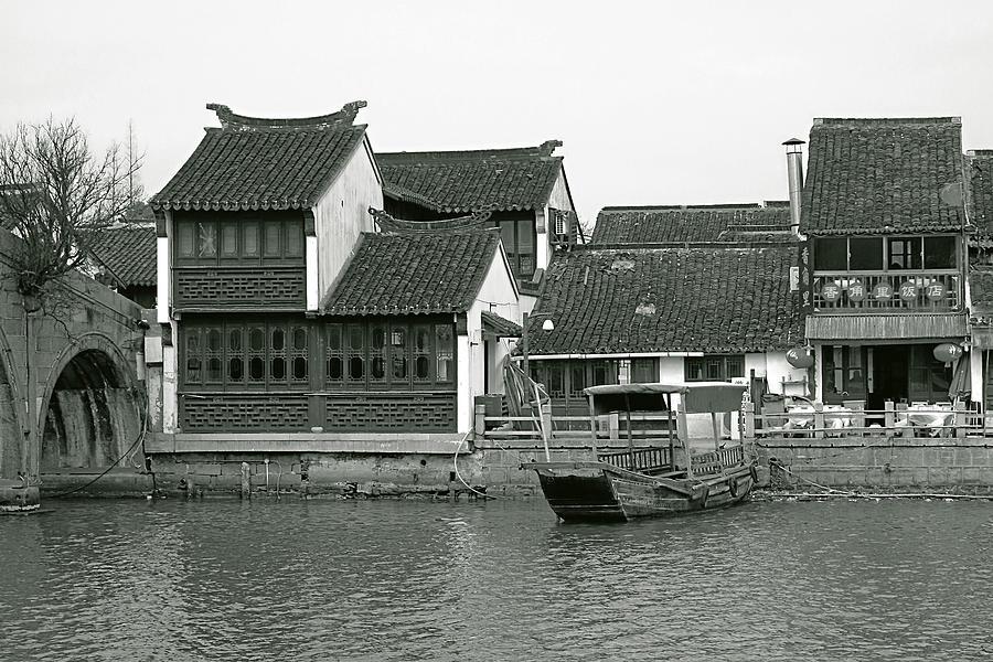 Zhujiajiao Photograph - Zhujiajiao Ancient Water Town China by Christine Till