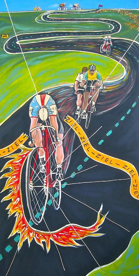 Biking Painting - Ziel by V Boge