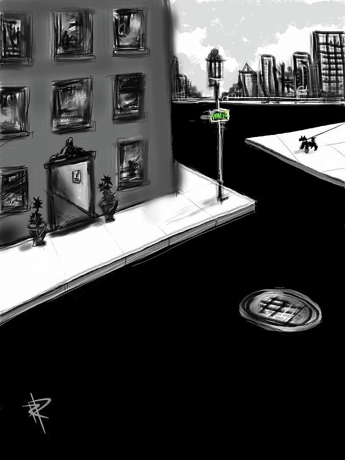 City Mixed Media - Zig Zag City by Russell Pierce