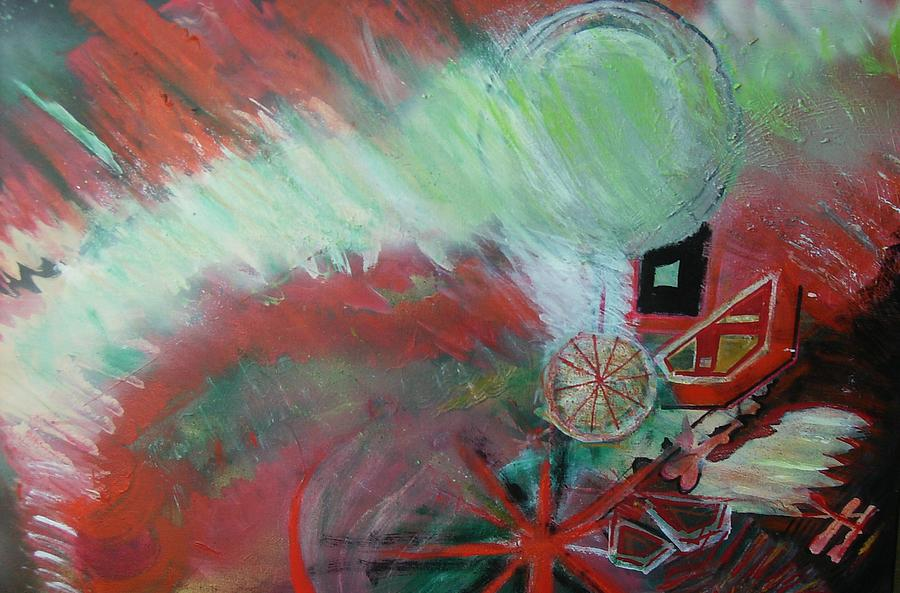 Abstract Painting - Zig-zag Explosion by Anne-Elizabeth Whiteway