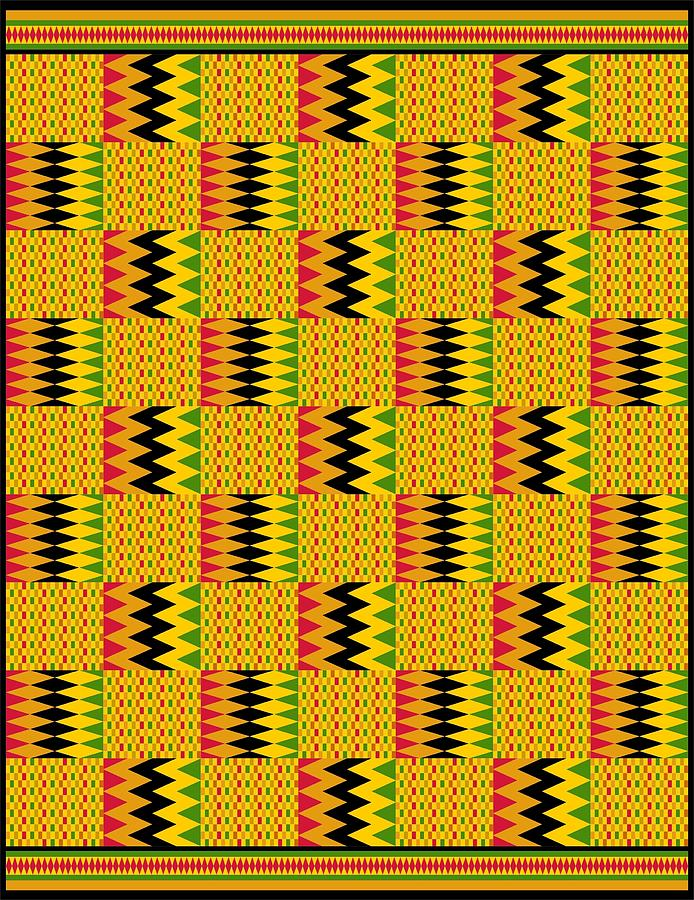 Zig Zag Kente Cloth Digital Art By Julia Snader