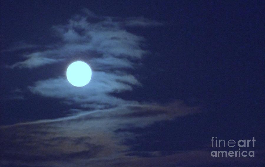 Moon Photograph - Zig Zag Moon by Mary Deal