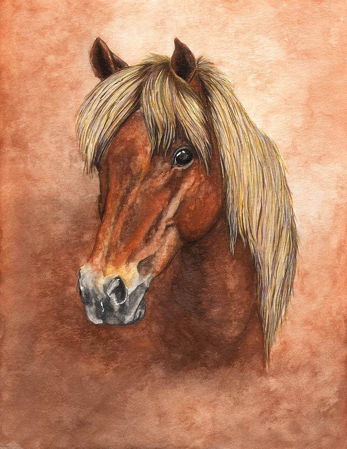 Pony Painting - Ziggy by Kristen Wesch