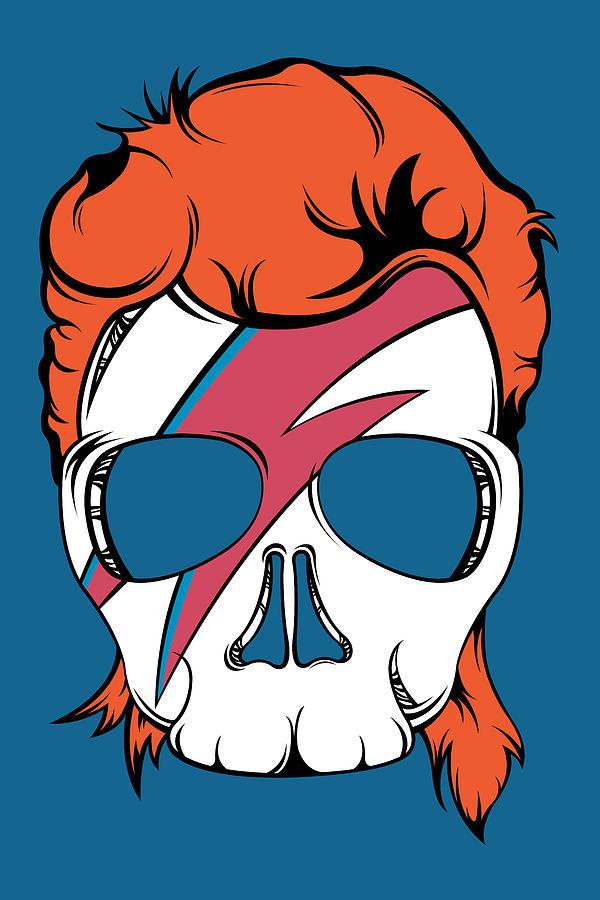 Skull Digital Art - Ziggy Starskull by Patrick Weber