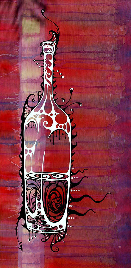 Wine Painting - Zinfandel by John Benko