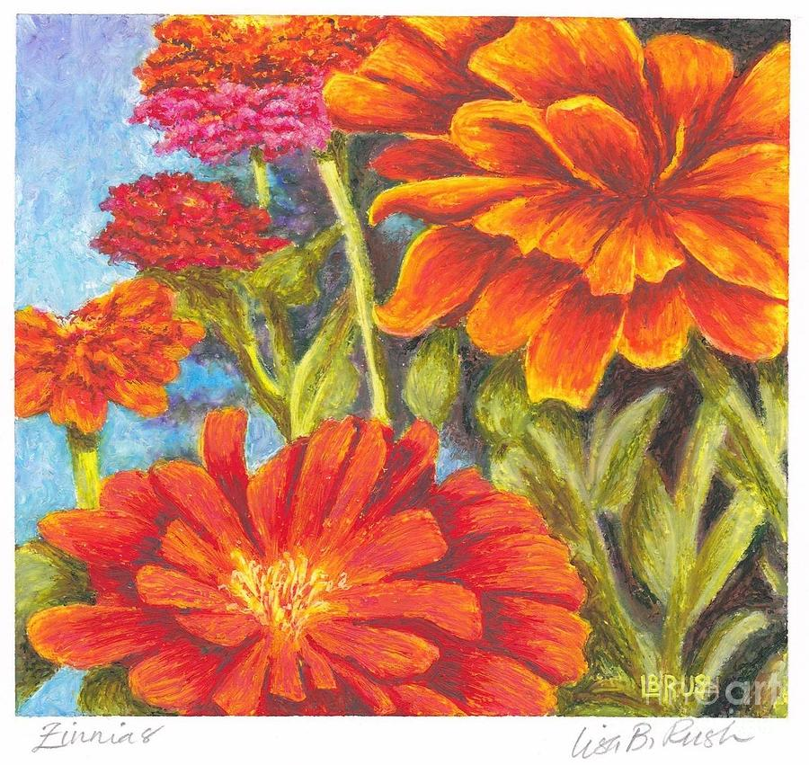 Zinnias by Lisa Bliss Rush