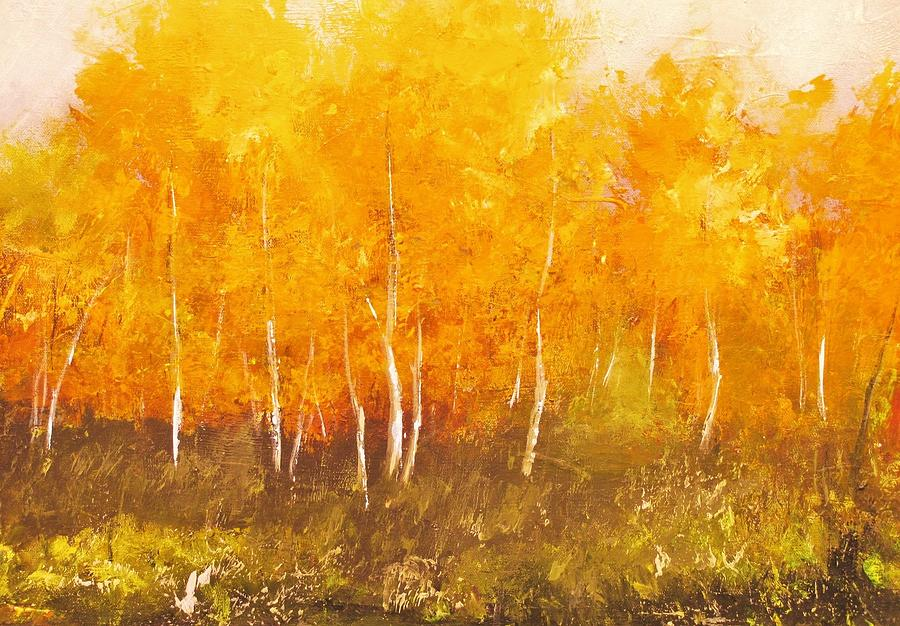 Landscape Painting - Zion Autumn by Anahid Minatsaghanian