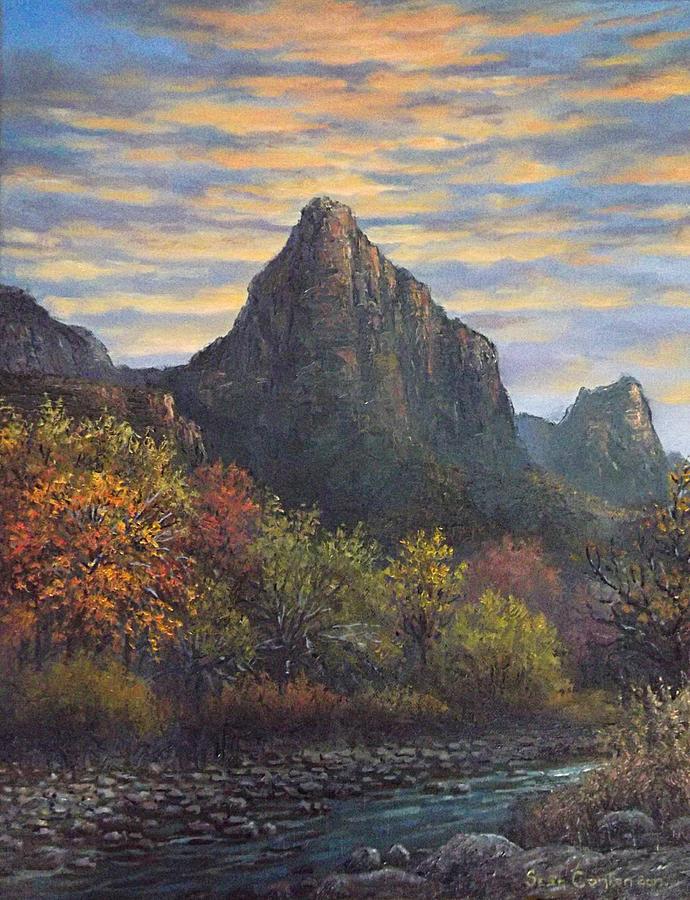 Landscape Painting - Zion Canyon by Sean Conlon