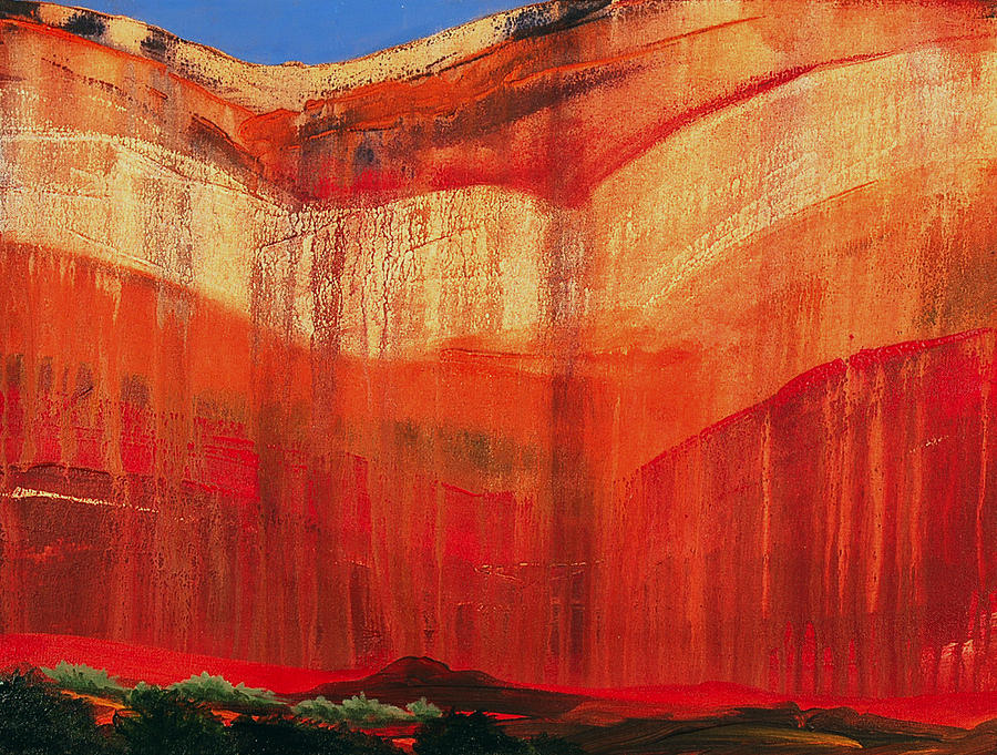 Landscape Painting - Zion Cove by David Rhodes