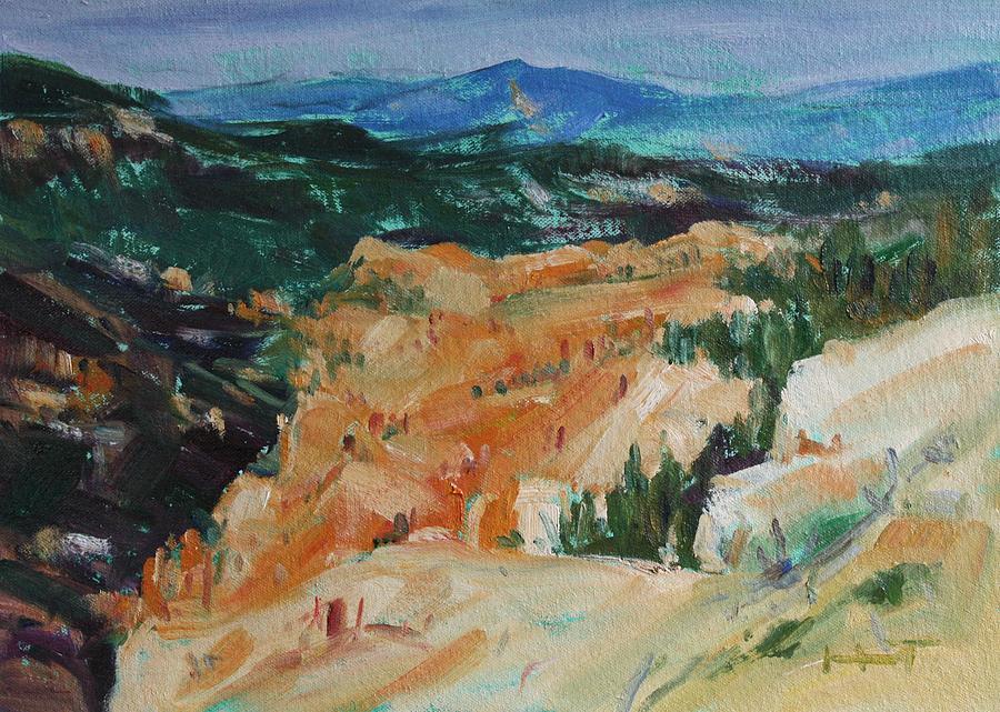 Owen Hunt Painting - Zion Hike by Owen Hunt