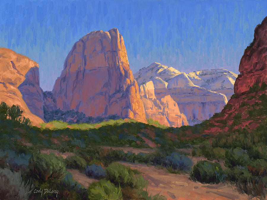 Zion National Park Painting - Zion Light Show by Cody DeLong