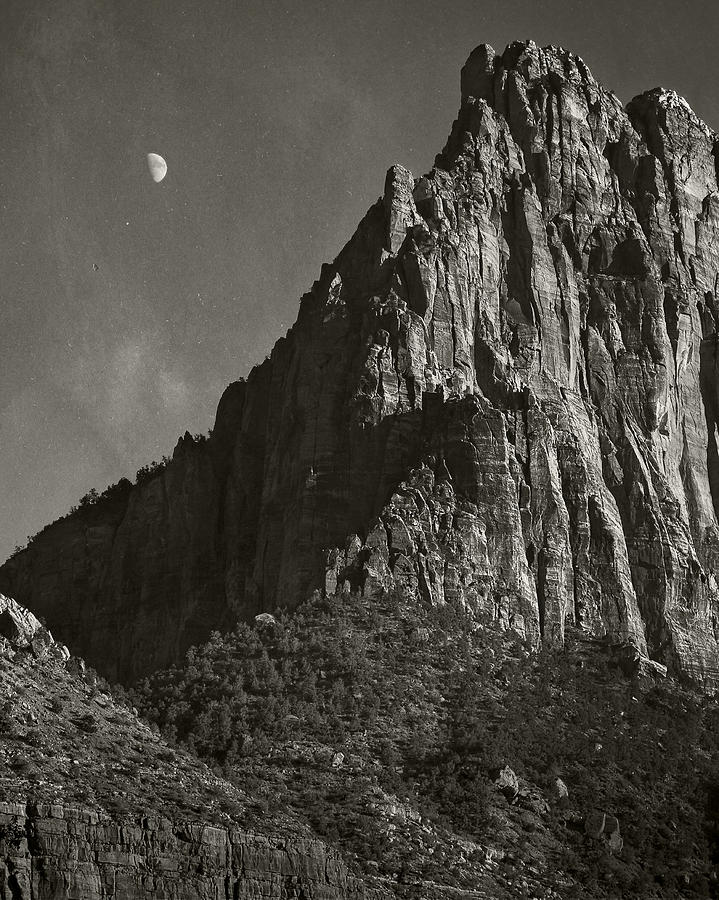 National Park Photograph - Zion Moonrise by Mike McMurray