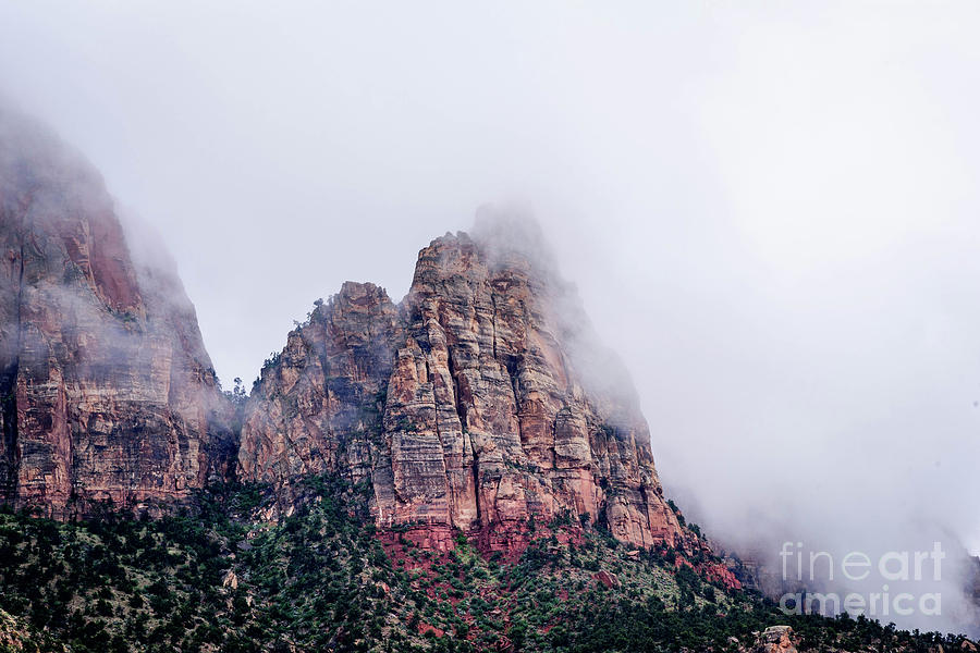 Zion Photograph - Zion Red Rock And Clouds by Jeffrey Hubbard