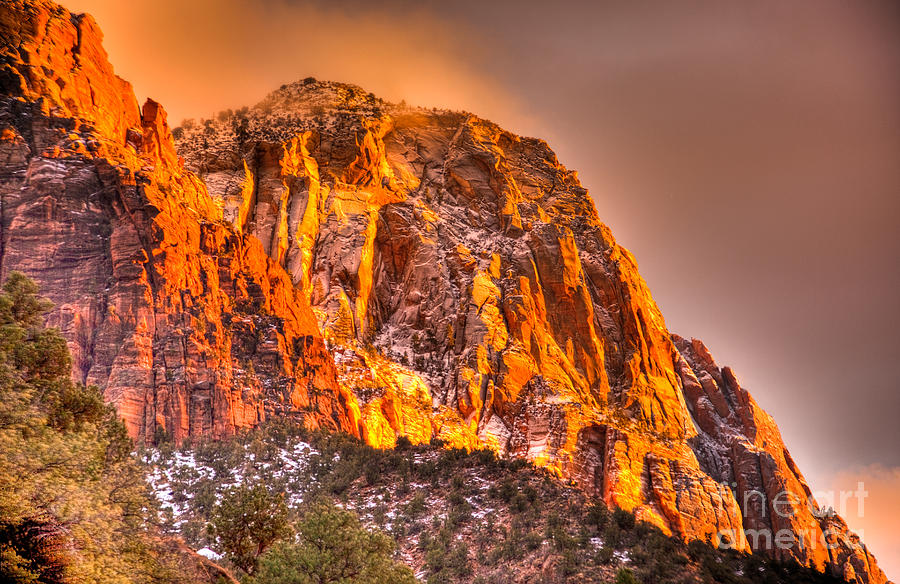 Hdr Photograph - Zions Fire I by Irene Abdou