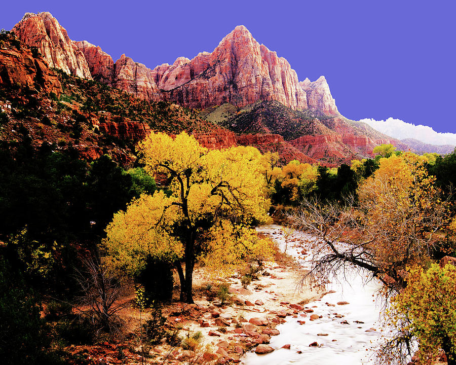 Zions Watchman Photograph by Norman Hall