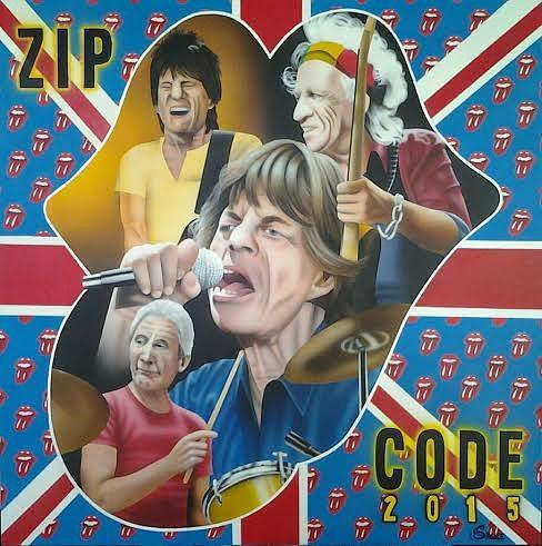 Mick Jagger Painting - Zip Code Tour 2015 by Brett Sauce