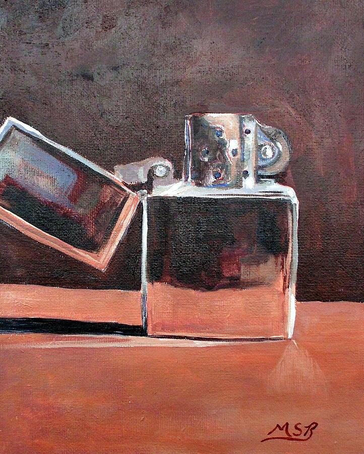 Zippo Painting - Zippo-light My Fire  by Maria Soto Robbins